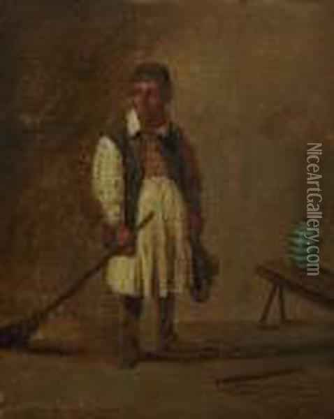 Wirt Mit Einem Besen Oil Painting - David The Younger Teniers