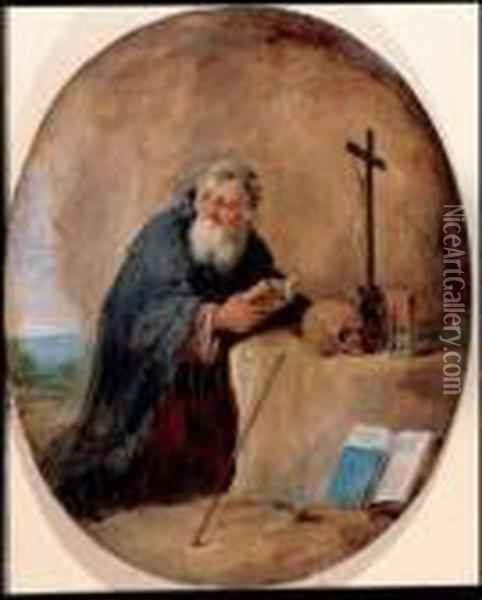 Sant'antonio Abate Oil Painting - David The Younger Teniers
