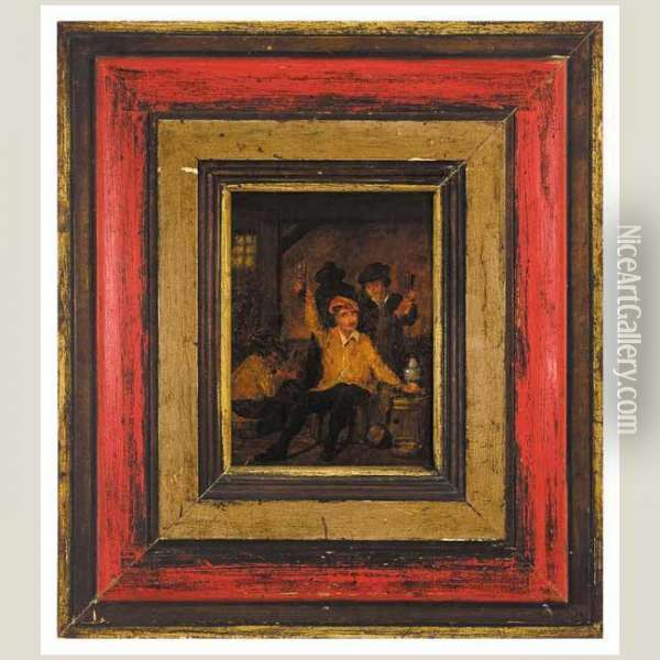 Taberna Oil Painting - David The Younger Teniers