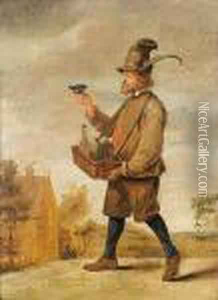 The Brandy Seller Oil Painting - David The Younger Teniers