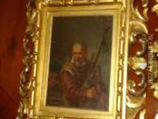 Bag Piper Oil Painting - David The Younger Teniers