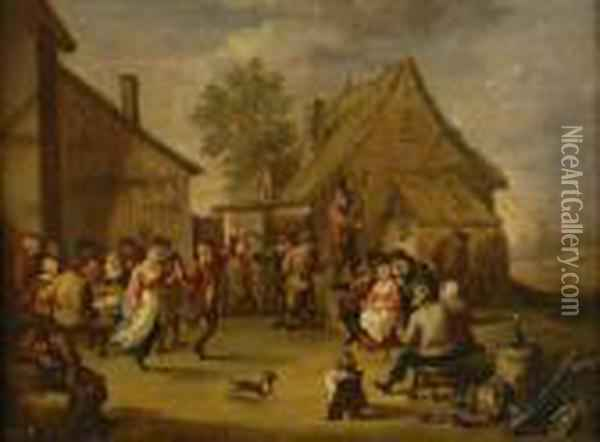 Kermess Oil Painting - David The Younger Teniers