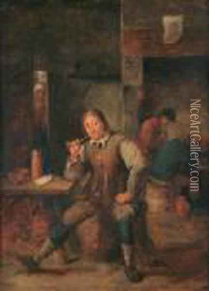 A Smoker Oil Painting - David The Younger Teniers