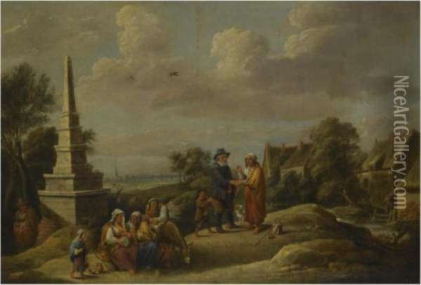The Fortune Teller Oil Painting - David The Younger Teniers