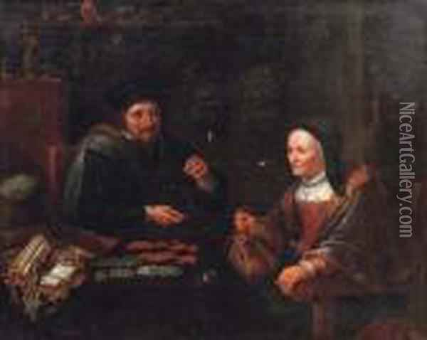 The Tax Collector Oil Painting - David The Younger Teniers