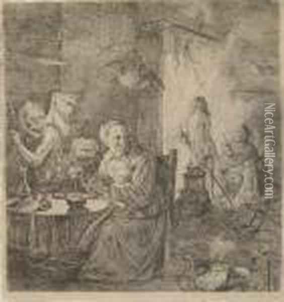 Hexensabbath Oil Painting - David The Younger Teniers