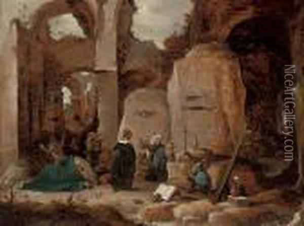 The Temptation Of Saint Anthony Oil Painting - David The Younger Teniers