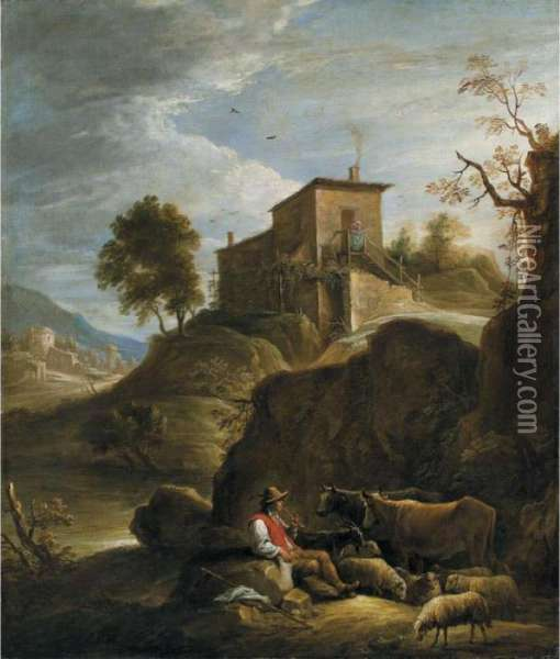 Pastoral Landscape With A 