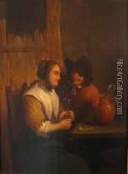 Tasters Oil Painting - David The Younger Teniers