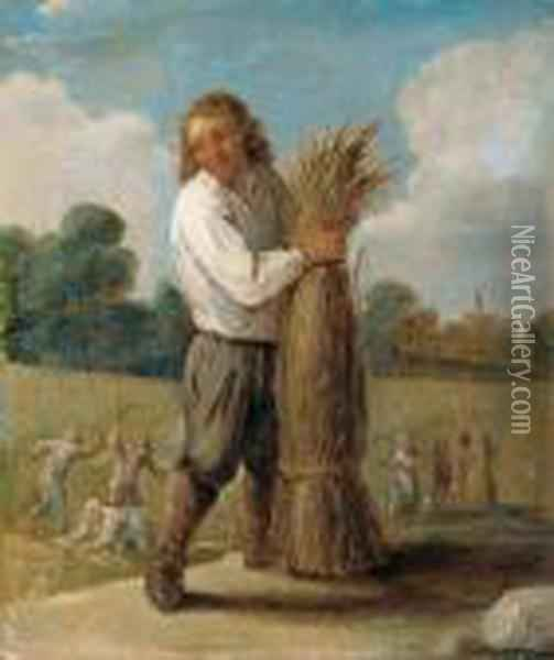 Allegorie Des Herbstes. Oil Painting - David The Younger Teniers