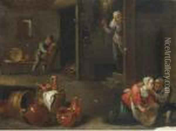 Oil On Canvas, Unframed Oil Painting - David The Younger Teniers