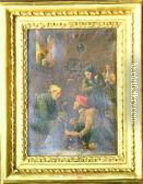 Bears Signature Oil Painting - David The Younger Teniers