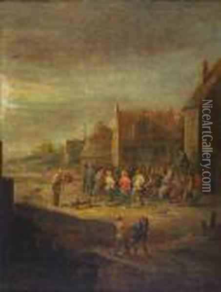 The Village Dance Oil Painting - David The Younger Teniers