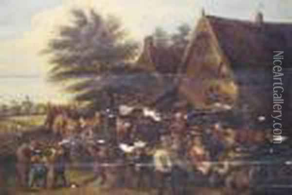 Village Festival Oil Painting - David The Younger Teniers