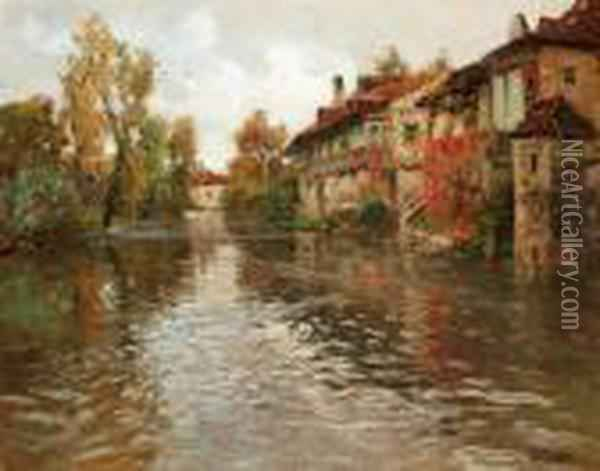 Langs Floden, Beaulieu Oil Painting - Fritz Thaulow