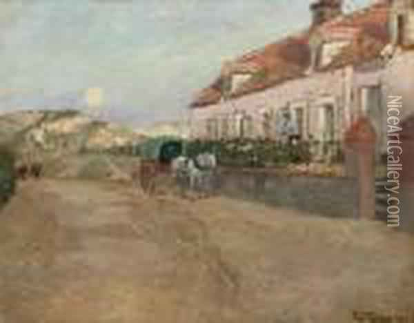 Aften I Camiers Oil Painting - Fritz Thaulow