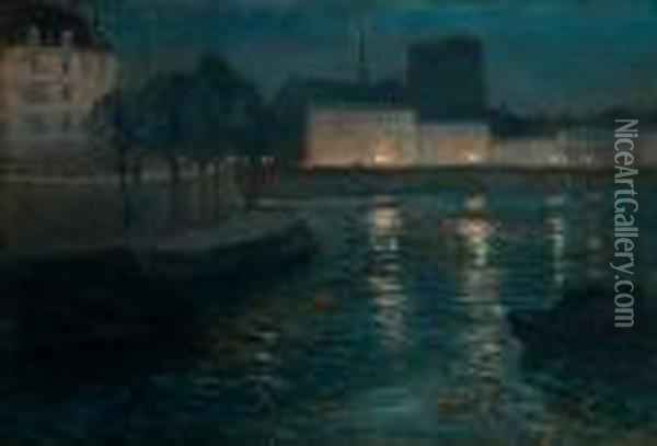 Evening Mood Oil Painting - Fritz Thaulow