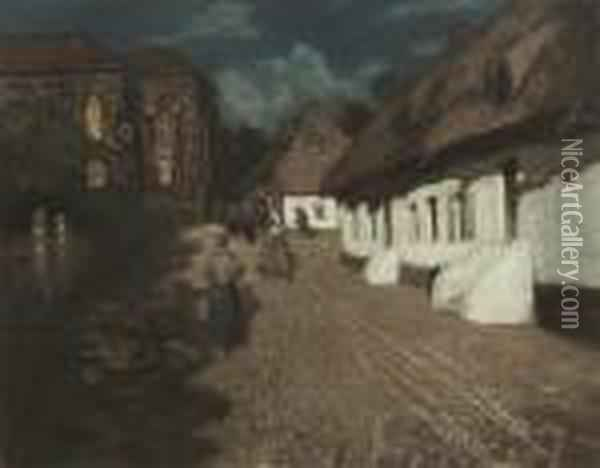 Mariasmaned Oil Painting - Fritz Thaulow