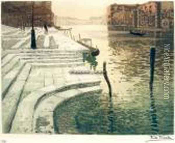 Marmortrappen Oil Painting - Fritz Thaulow
