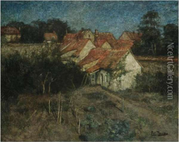 Fransk Landsby (french Village) Oil Painting - Fritz Thaulow