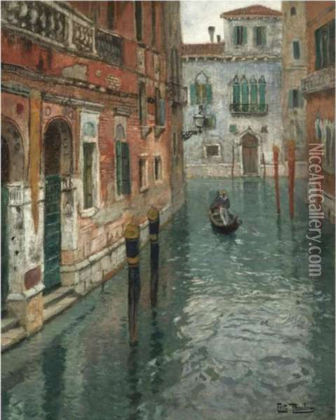 Fra Venezia (view Of Venice) Oil Painting - Fritz Thaulow