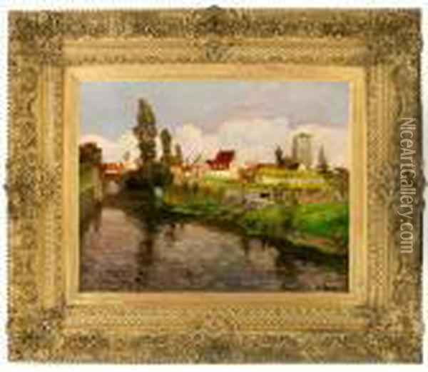 By The Outskirts Ofbergues Oil Painting - Fritz Thaulow