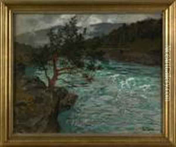 River Otta Norway Oil Painting - Fritz Thaulow