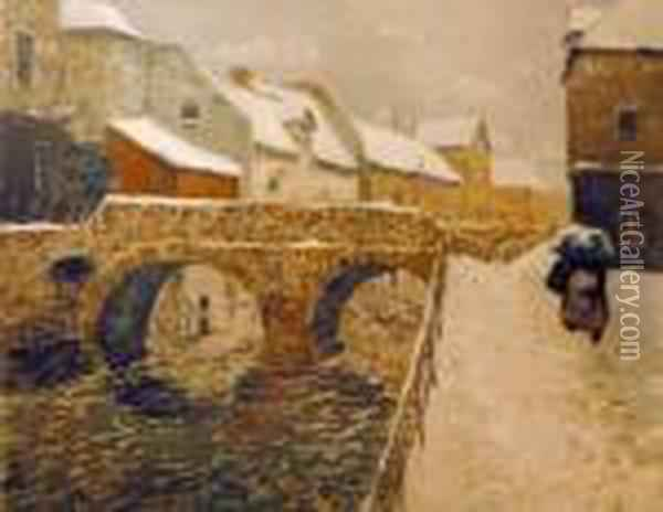 Broen I Amiens Oil Painting - Fritz Thaulow