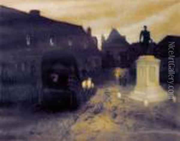 Diligencen Oil Painting - Fritz Thaulow