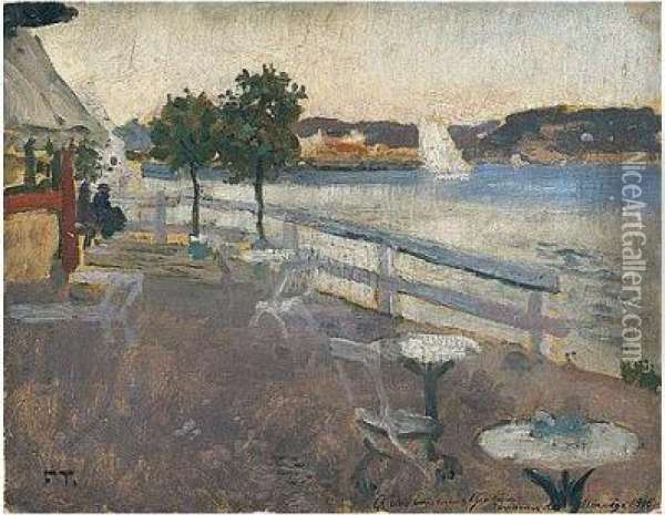 Ved Innsjoen (by The Water's Edge) Oil Painting - Fritz Thaulow