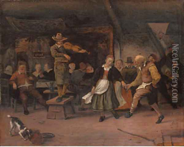 A marriage dance Oil Painting - Jan Steen