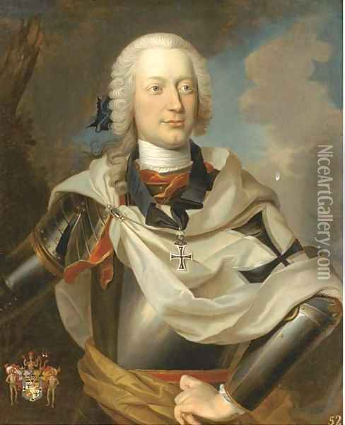 Portrait of a nobleman Oil Painting - Louis de Silvestre