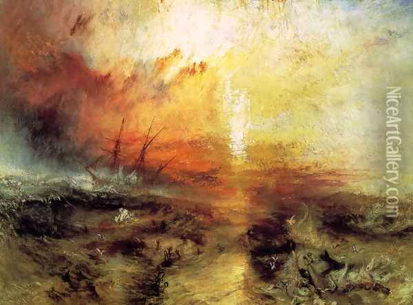 The Slave Ship 1840 Oil Painting - Joseph Mallord William Turner