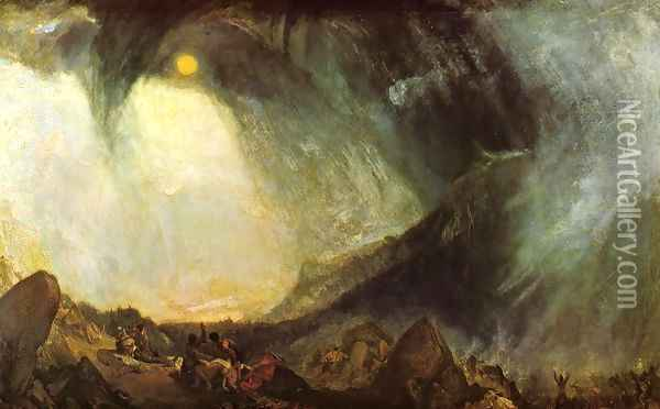 Snow Storm, Hannibal and his Army Crossing the Alps 1812 Oil Painting - Joseph Mallord William Turner