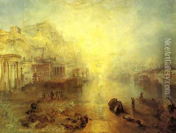 Ancient Italy Ovid Banished From Rome Oil Painting - Joseph Mallord William Turner