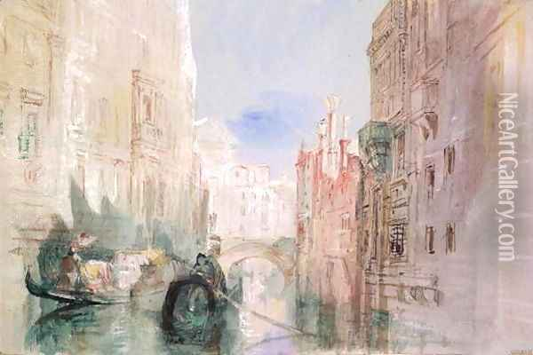 A Canal near the Arsenale, Venice Oil Painting - Joseph Mallord William Turner