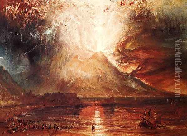Eruption Of Vesuvius Oil Painting - Joseph Mallord William Turner