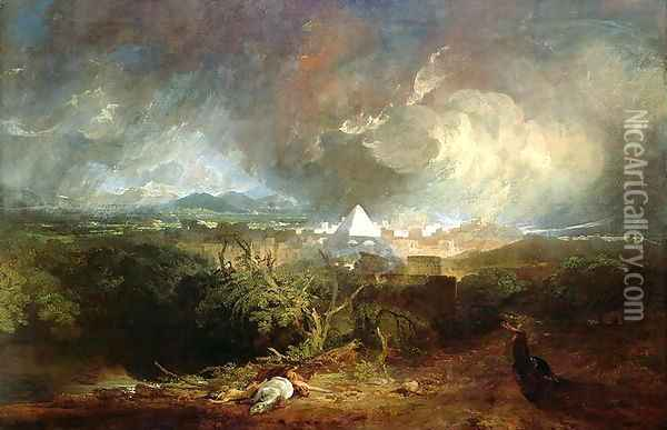 The Fifth Plague of Egypt 1800 Oil Painting - Joseph Mallord William Turner