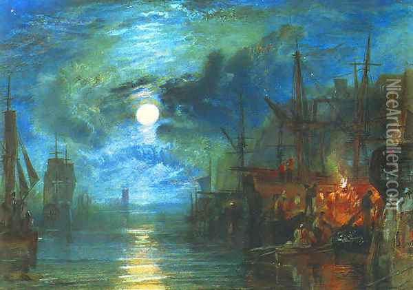 Shields, on the River Tyne Oil Painting - Joseph Mallord William Turner