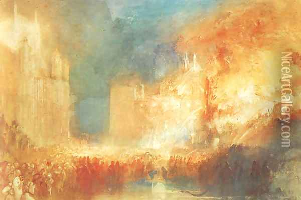 Burning of the Houses of Parliament Oil Painting - Joseph Mallord William Turner