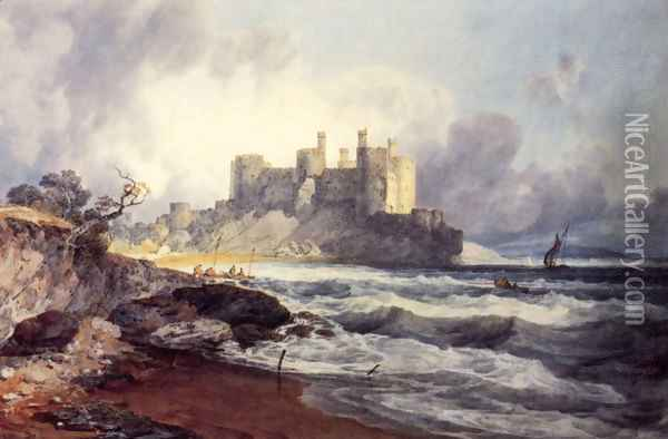 Conway Castle Oil Painting - Joseph Mallord William Turner