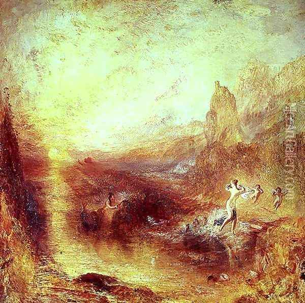 Glaucus and Scylla from Ovids Metamorphoses, 1841 Oil Painting - Joseph Mallord William Turner