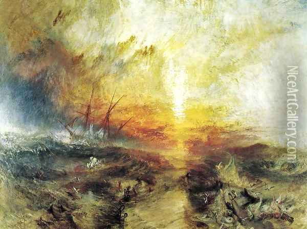 Slavers Throwing Overboard The Dead And Dying Typhoon Coming On Oil Painting - Joseph Mallord William Turner