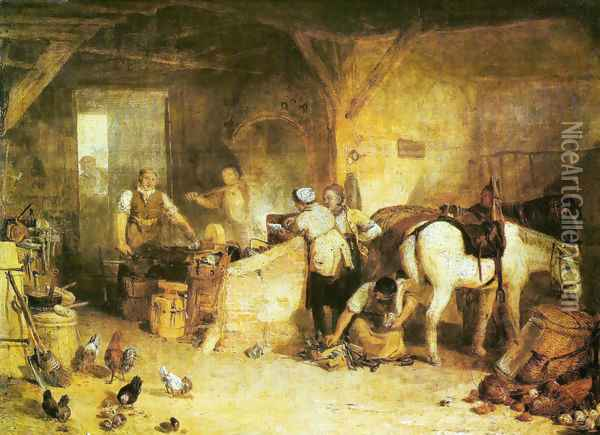 A field blacksmith Oil Painting - Joseph Mallord William Turner