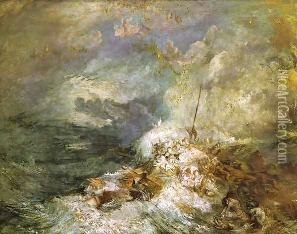 Fire at Sea Oil Painting - Joseph Mallord William Turner