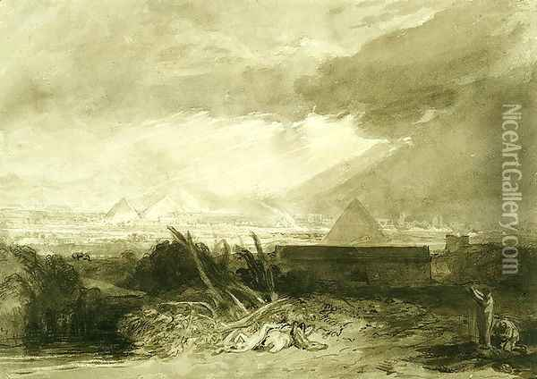 The Fifth Plague of Egypt, 1806-10 Oil Painting - Joseph Mallord William Turner