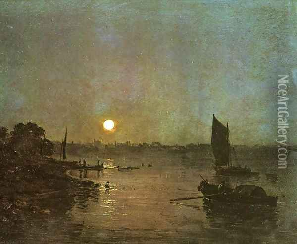 Moonlight A Study At Millbank Oil Painting - Joseph Mallord William Turner