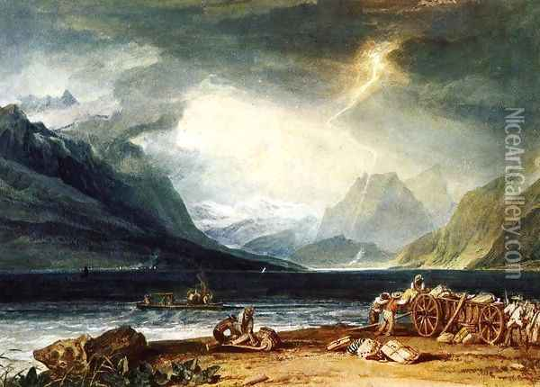 The Lake Of Thun Switzerland Oil Painting - Joseph Mallord William Turner