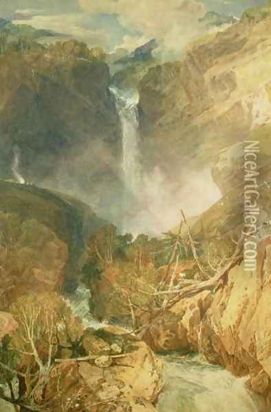 The Great Falls of the Reichenbach, 1804 Oil Painting - Joseph Mallord William Turner