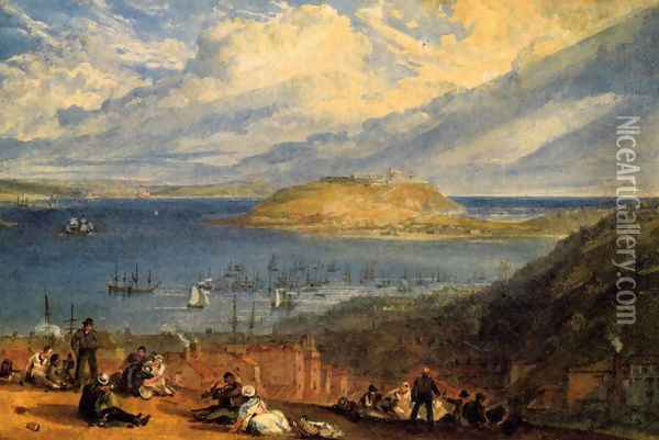 Falmouth Harbour Cornwall Oil Painting - Joseph Mallord William Turner